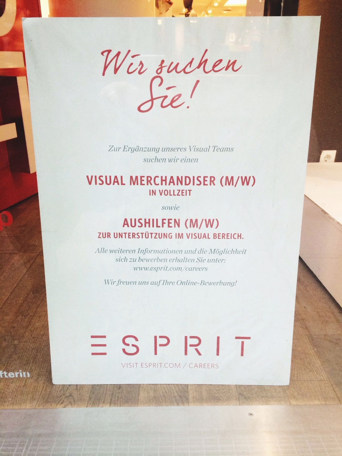 Esprit is looking for...