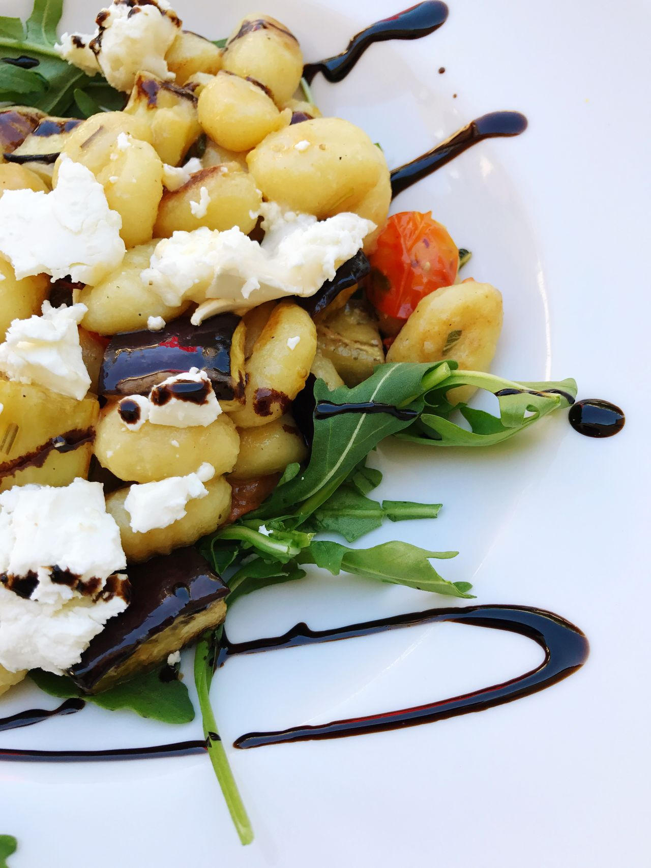 Gnocci Gnocchi Di Patate Food Goat Cheese Salad Lunch Vegetarian Food Food And Drink Freshness Healthy Eating Vegetable Ready-to-eat Salad Indoors  No People Plate Close-up Vegetarian Food Day