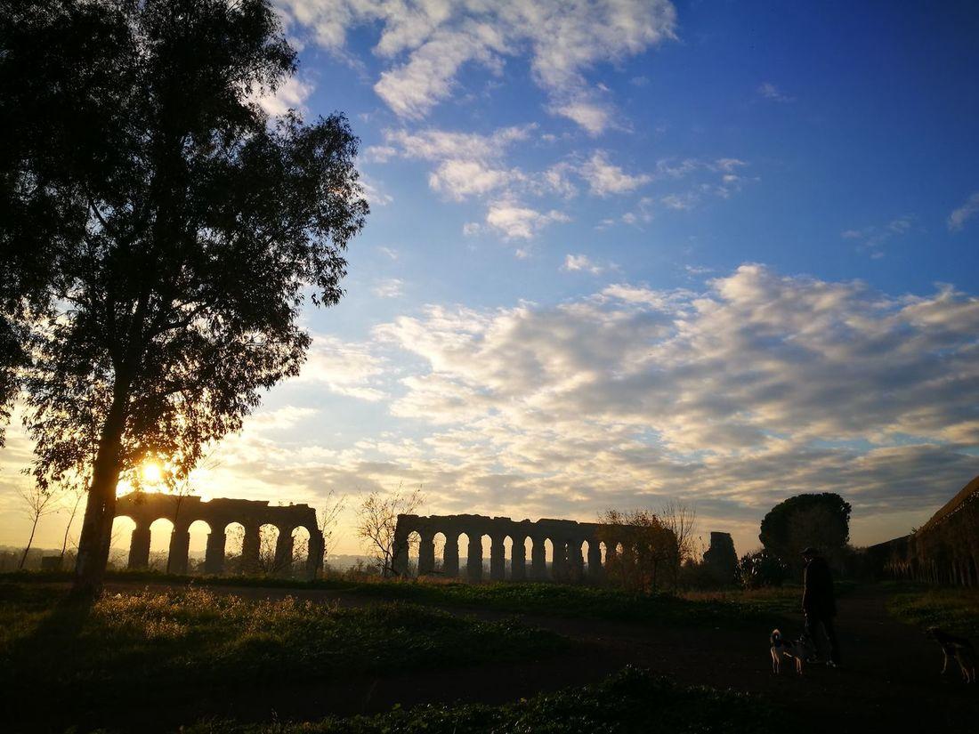 Tramonto Rome Italy🇮🇹 Rome Parco Degli Acquedotti Architecture Cityscape Beauty In Nature