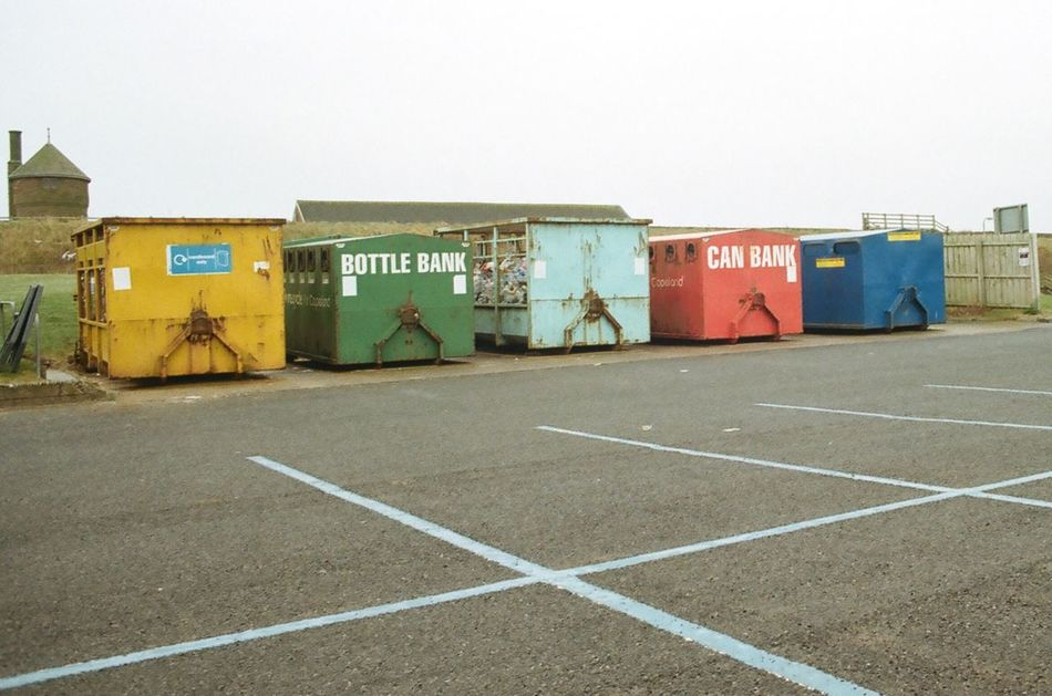 Architecture Bottle Bank Built Structure City Day Empty Geometric Martin Parr Martin Parr Tribute Multi Colored No People Outdoors Overcast Road Seaside