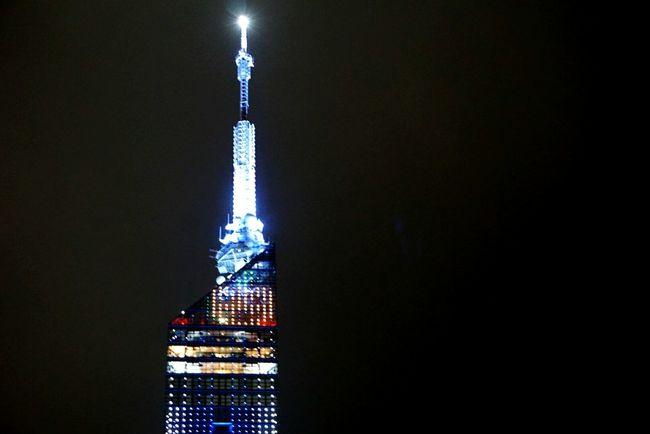 In Japan Fukuoka City  Fukuoka Tower Haloween Neon Lights