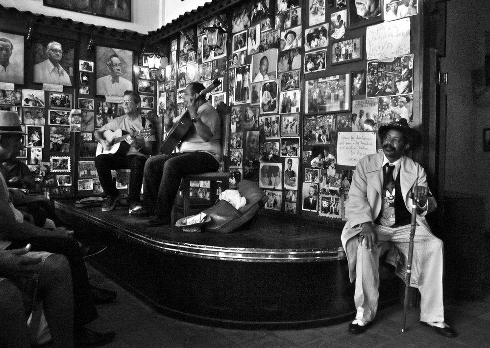 The old magican is listening the music Caribbean Cuba, Indoor, Musician People Santiago De Cuba, Street Photography Street,