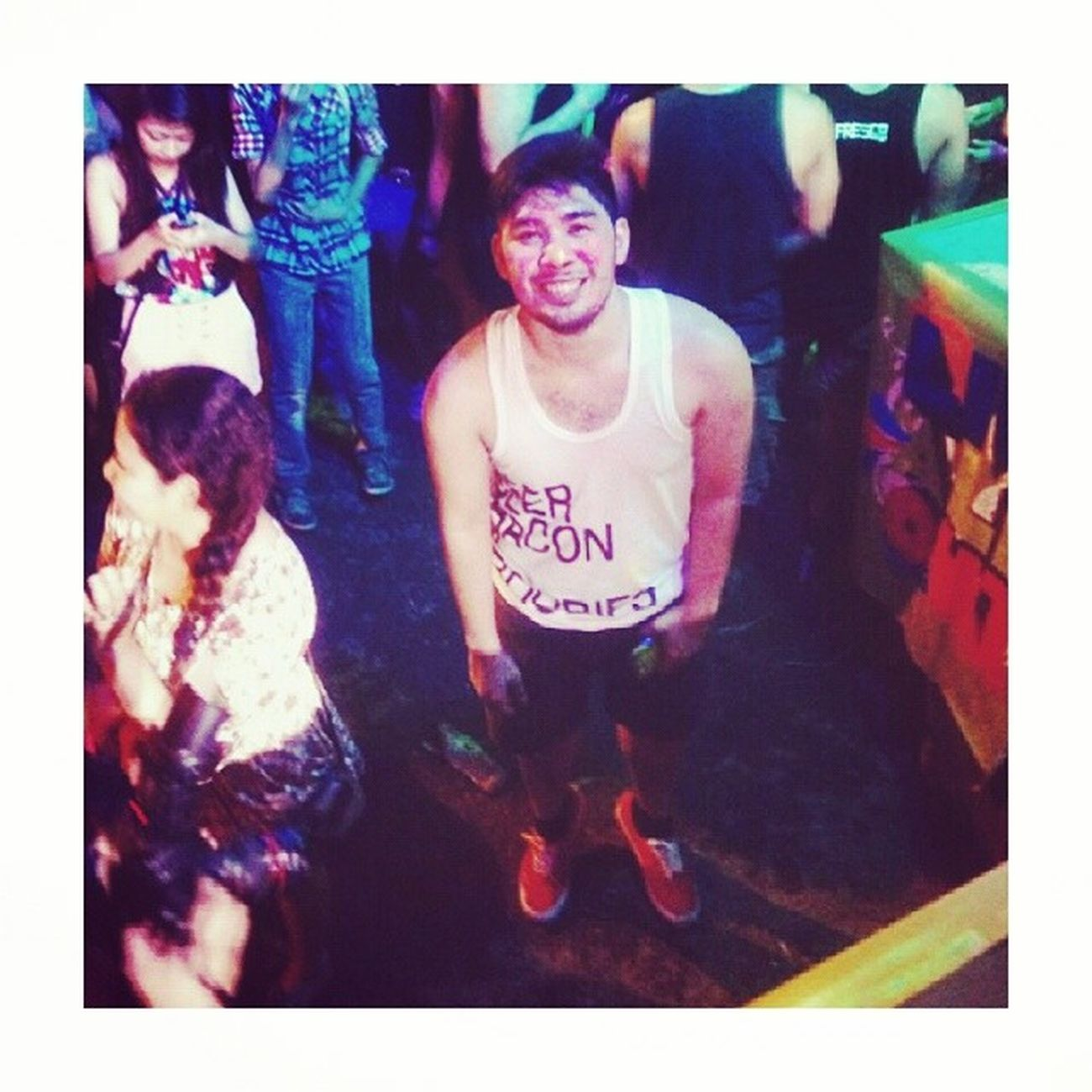 Beer, Bacon, and Boobies! Streetparty2014 Selfie Paints (c) @mikaenchanted