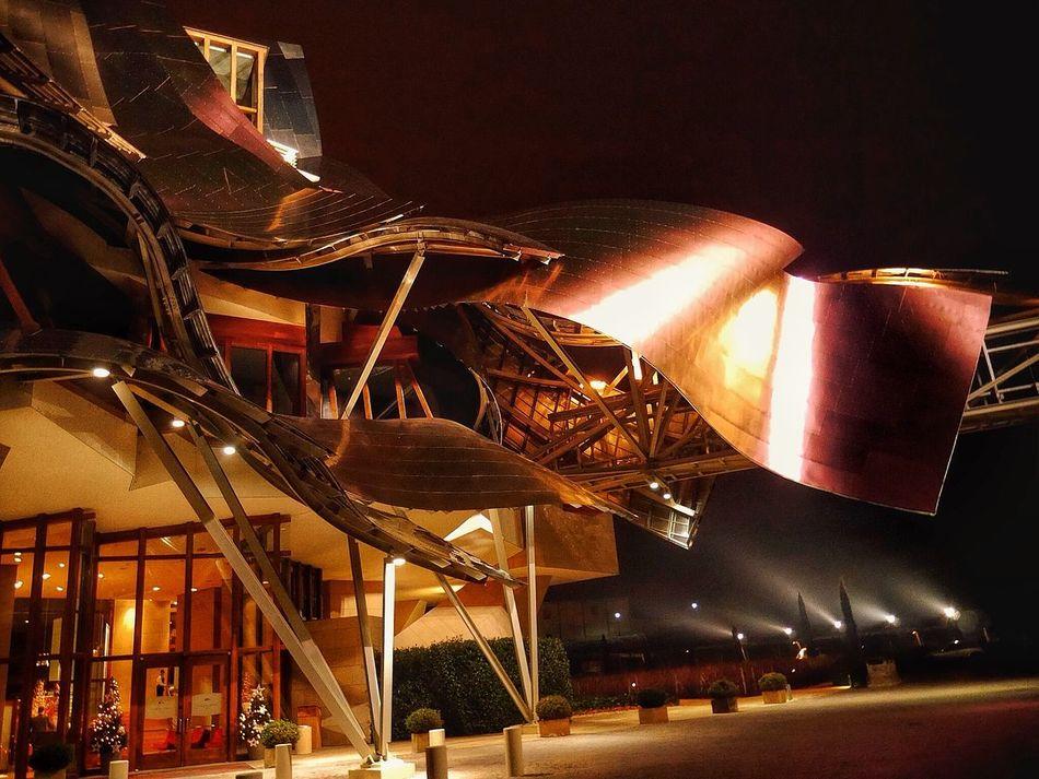 The Architect - 2015 EyeEm Awards Marques De Riscal Elciego La Rioja Enjoying Life Bodegas Night Lights Frank Gehry