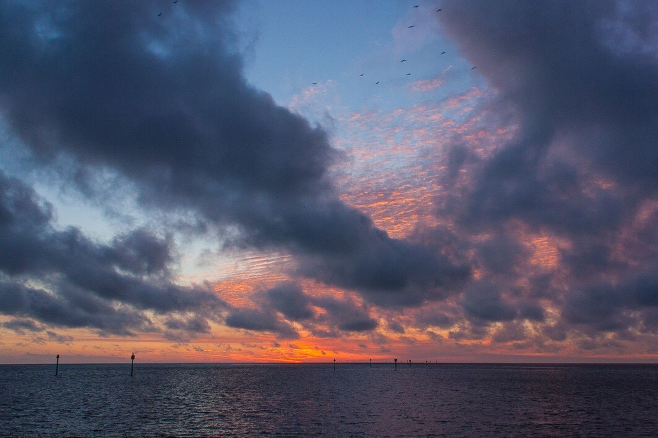 Clouds And Sky Nature Sunset Landscape Outdoors Sky Water