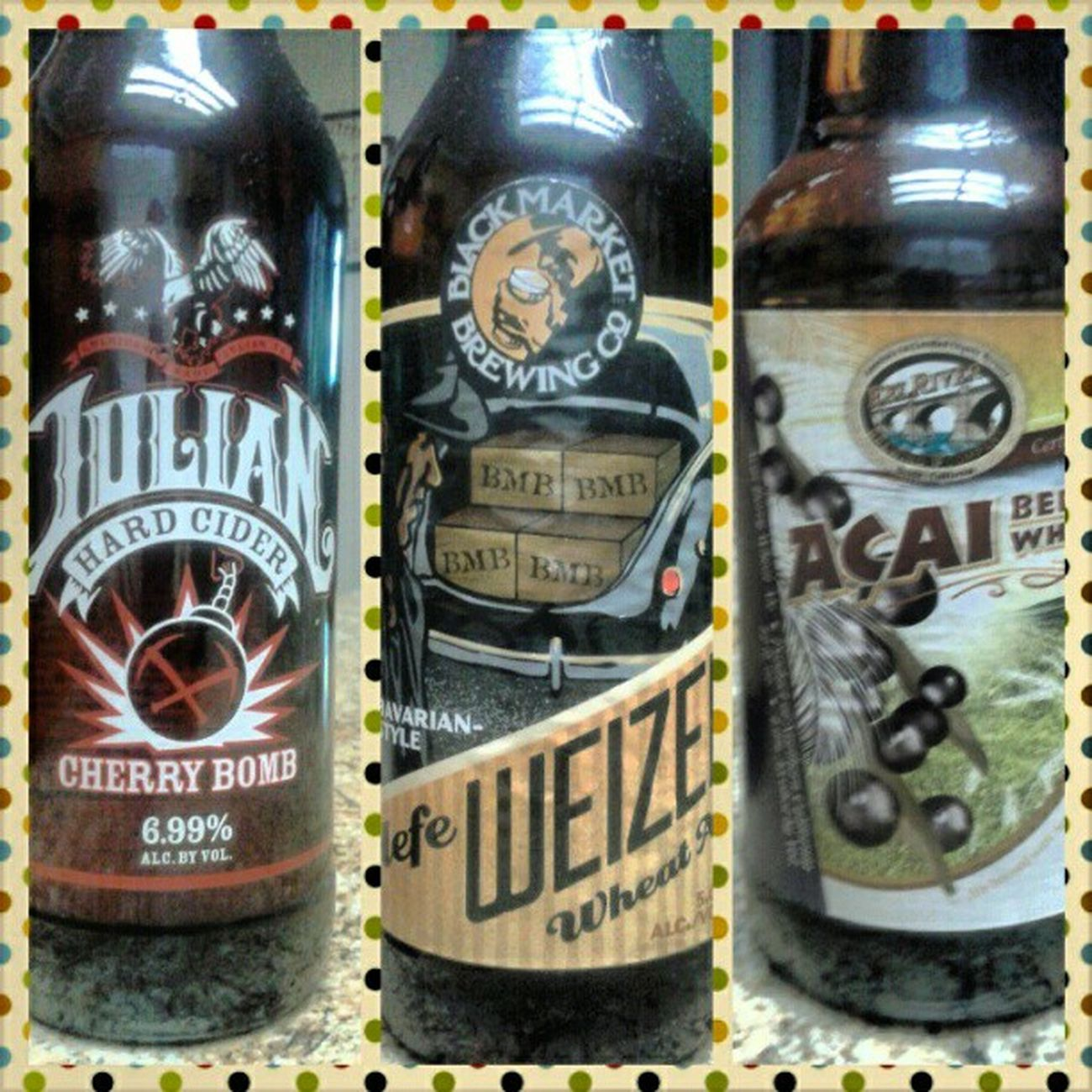 Which should I start with? Hardcider Hefeweizen Açaiberrywheat Blackmarketbrewing Julian eelriverbrewing