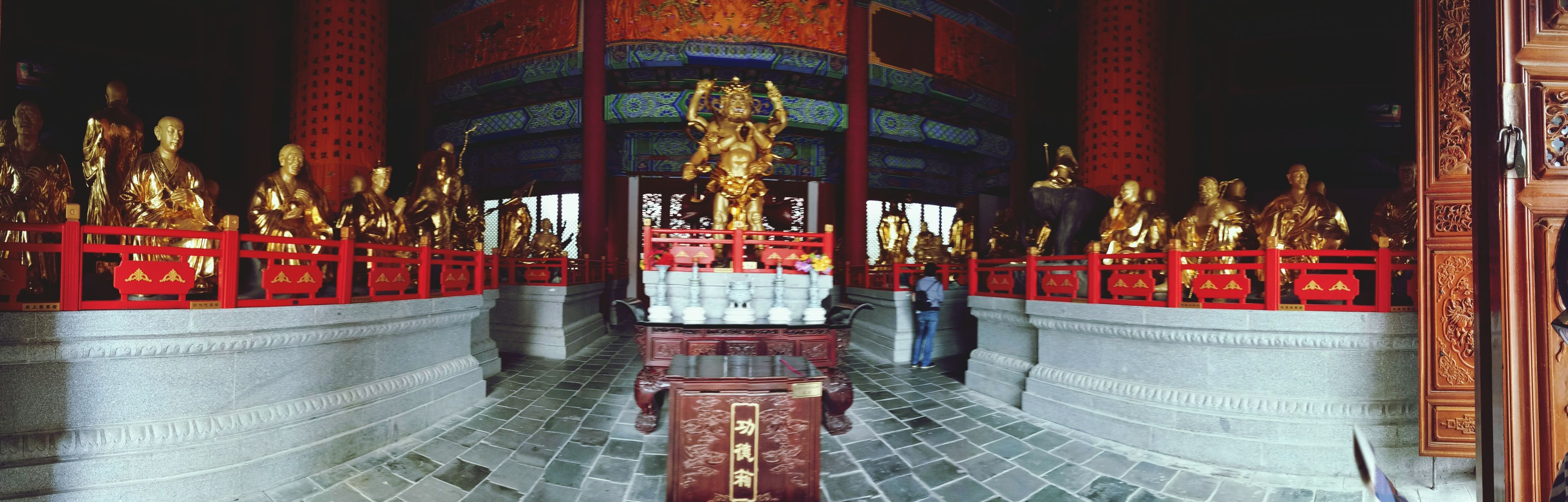 place of worship, religion, spirituality, statue, buddha, sculpture, temple - building, human representation, red, art and craft, incense, altar, idol, temple, religious offering, culture, creativity, golden color