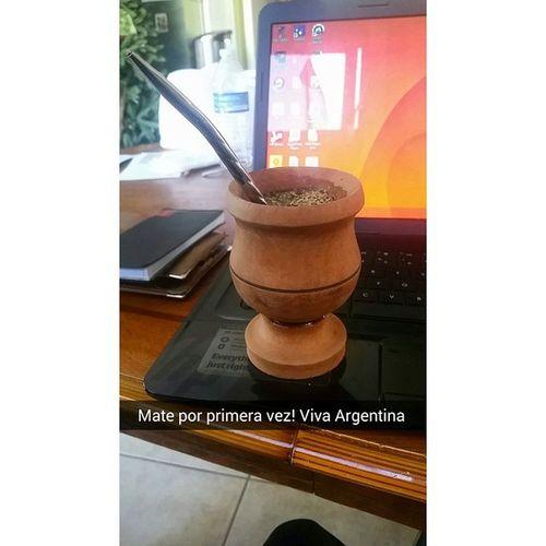 Probando por primera vez, Mate a lo Macho! Trying Mate for the first time!! ????? Mate Argentina Herbaltea Yerba delicioso che finally specialmoment