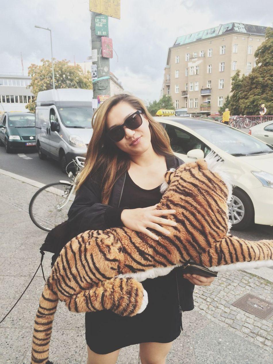 Beautiful stock photos of tiger, Beautiful Woman, Berlin, Blond Hair, Car