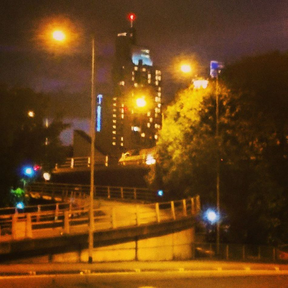 MCR Manchester Nightshot Streetlife Citycentre Uk Northern Hiltonhotel