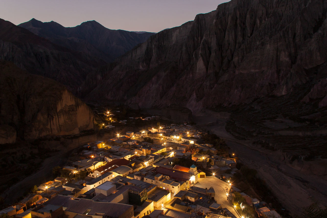 Aerial View Architecture Iruya Mountain Tourism Town Tranquility Travel Destinations