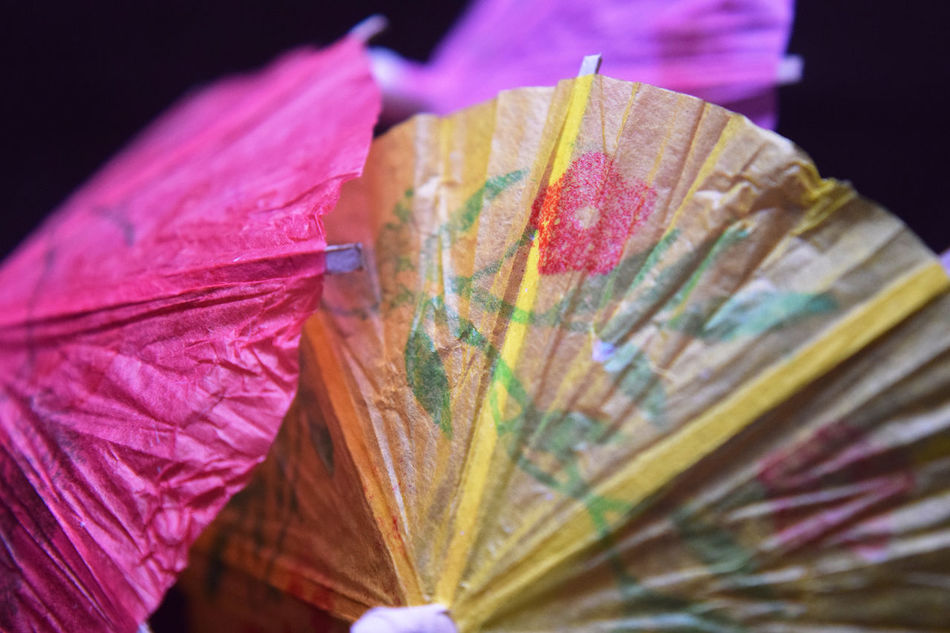 A collection of drink umbrellas Alcohol Baby Close-up Focus On Foreground Food And Drink Get Together Holding Indoors  Lifestyles Multi Colored Red Scout Bar, Houston Tx Umbrella