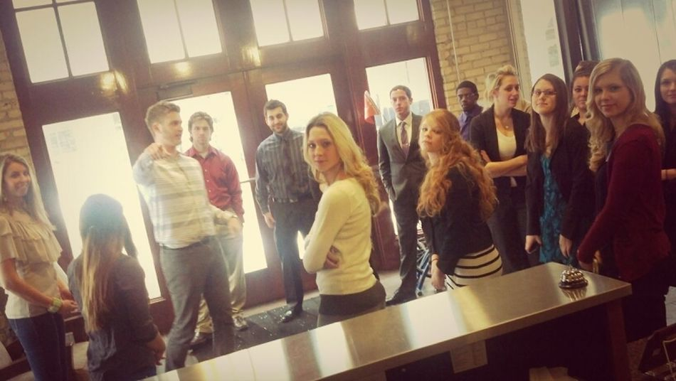 @ferrisstatepr students getting a tour of the @lambertedwards offices