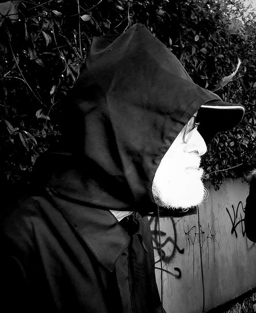 Adult Adult Adults Only Angry Angry Face Black & White Black&white Blackandwhite Photography Close-up Day Old Man One Person Outdoors People Rainy Days Real People Street Photography Streetphotography White Beard