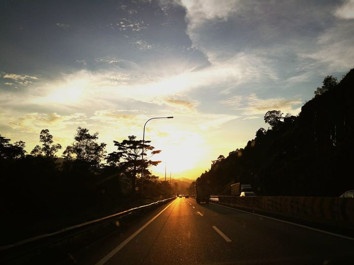 Life Sunset Highway Road