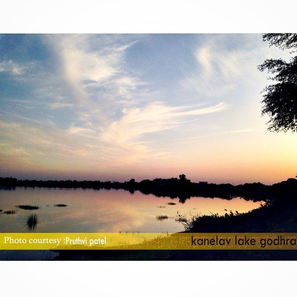 Nature Sunset Time Kanelav Lacke