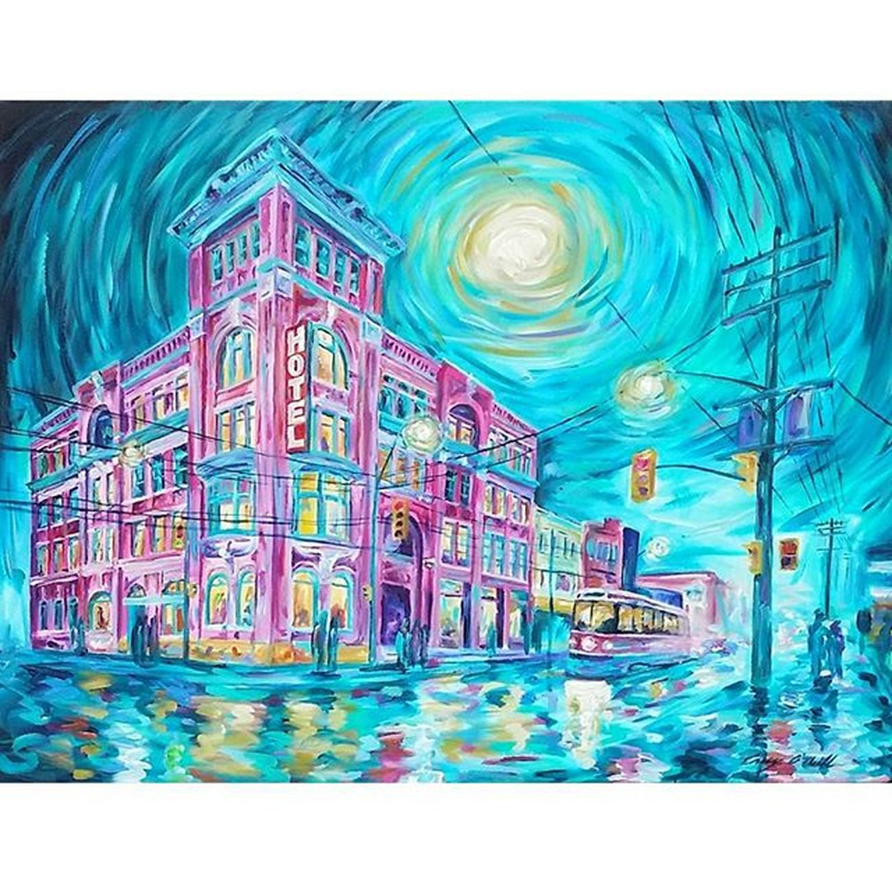 Available - Gladstone 30x40 Acrylic on stretched canvas. DM or email info@caseyoneillart.com. CaseyONeill Toronto Impressionism