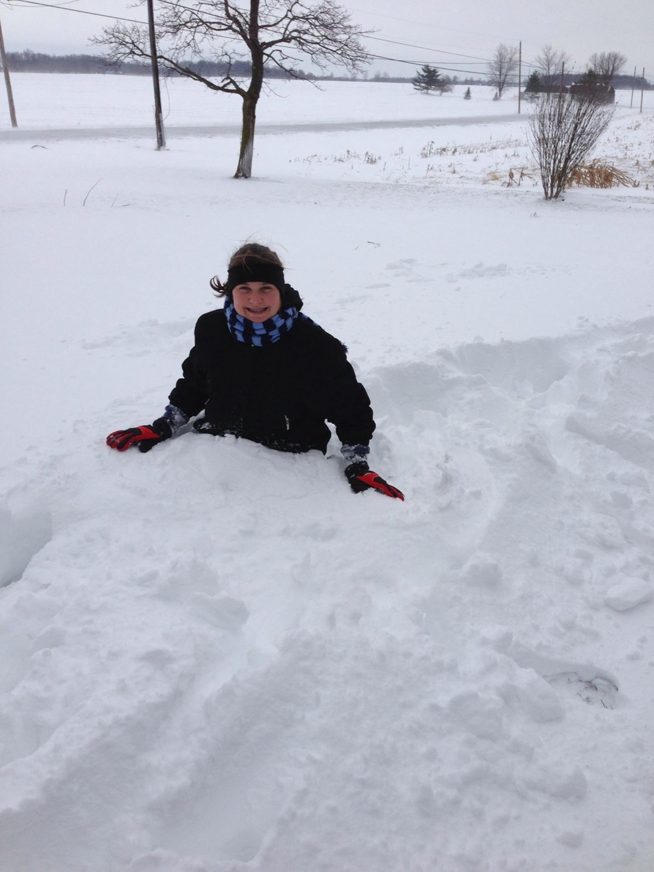 Me Buried In The Snow