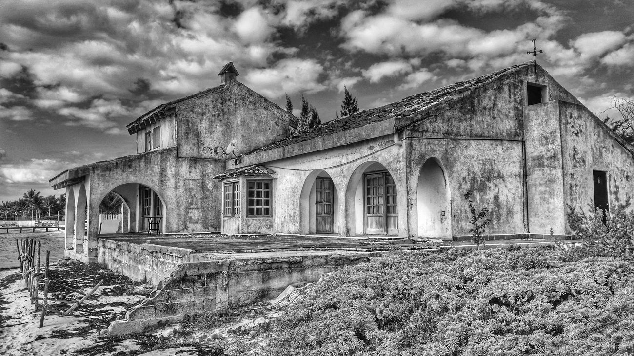 Holiday Architecture Old Buildings Black And White Photography