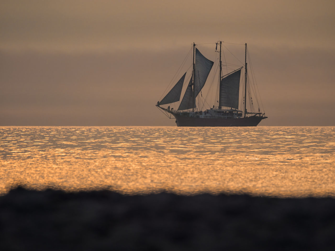 Windjammer on the Baltic Sea in Warnemuende, Germany. Baltic Sea Beach Day Horizon Horizon Over Water Nature Nautical Vessel No People Old-fashioned Outdoors Regatta Roses Sailboat Sailing Sailing Ship Sea Sky Sunset Tall Ship Warnemünde Water Wave Windjammer Yacht Yachting