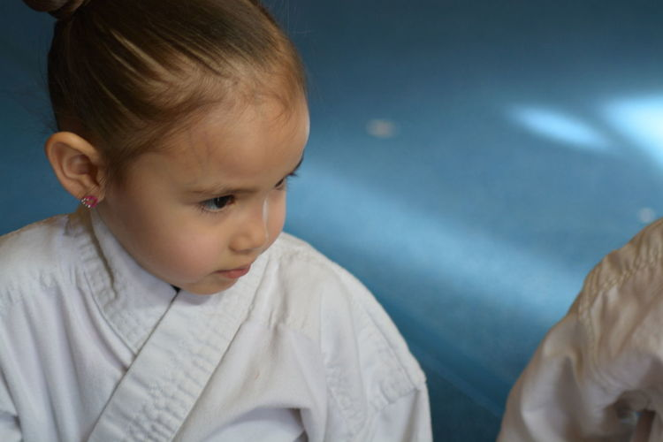Watching closely! NinjaBaby KarateKid Karate Class Littleninjas Ninja In Training Katelynemily Child Childhood One Person Close-up Real People Girl Power Karategirl