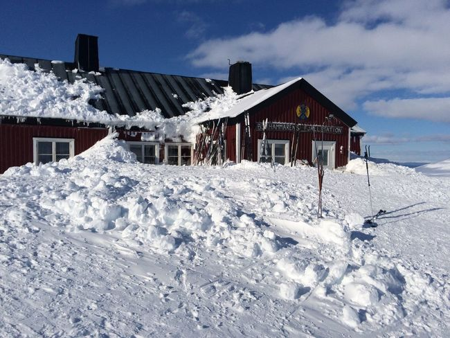 Winter hut in the swedish mountains Recreation  Blåhammaren Cold Temperature House Hut Mountain Hut Nature Outdoors Snow Stf Winter Winter Holiday Winter Holidays