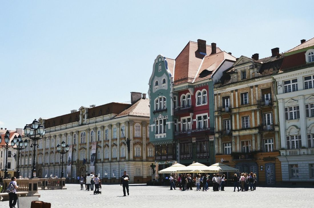 In the middle of Timisoara. Built Structure Architecture Large Group Of People Tourist City Lifestyles Tourism Travel Destinations Travel Old Town Romania Timisoara Lovethiscity Lovethiscountry