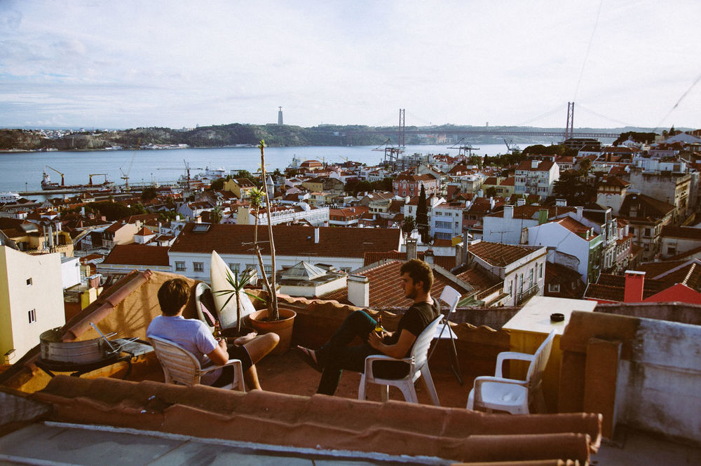 Rooftop Hangings Adult Adults Only Beer Beer Time Day Enjoying Life Enjoying The Sun Erasmus Hangout Hostel Men Nautical Vessel Outdoors People Roof Rooftop Sea Sky Transportation View Water