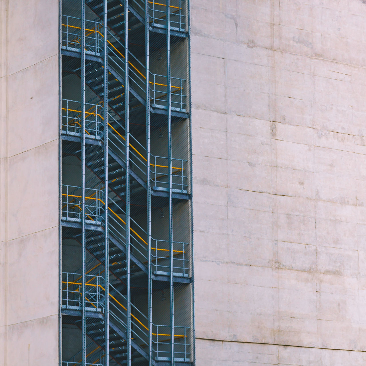 Picture taken from the top of Edificio Martinelli. Architecture Building Exterior Built Structure Concrete Concrete Jungle Concrete Wall Construction Site Day Gray Lines Lines And Shapes Metal Metallic Minimal Minimalism Minimalist Architecture Modern No People Outdoors Pattern Railing Staircase Stairs The Architect - 2017 EyeEm Awards Yellow Neighborhood Map