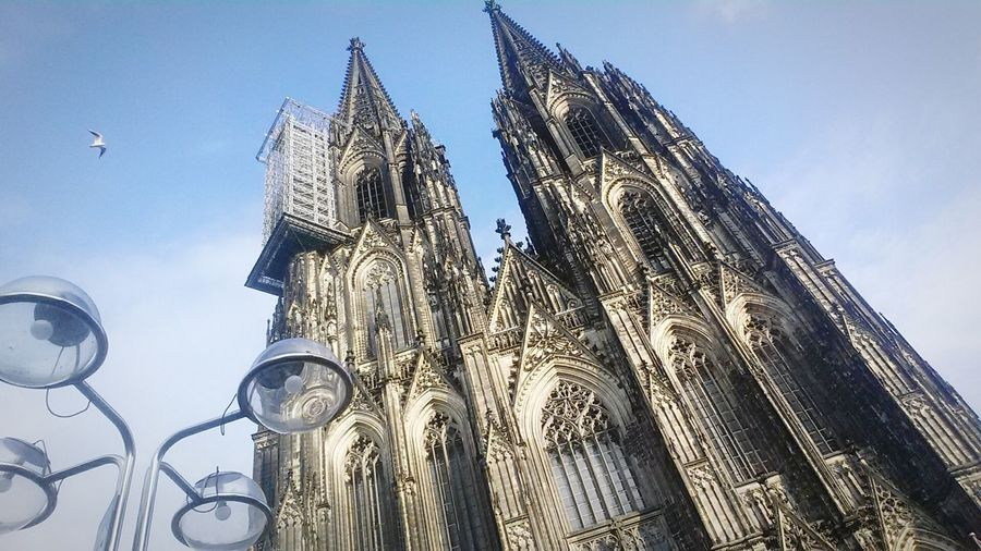 Low Angle View Clock Tower No People Sky Architecture Travel Destinations Horizontal Clear Sky Outdoors Day Cultures Nature Köln Kölner Dom