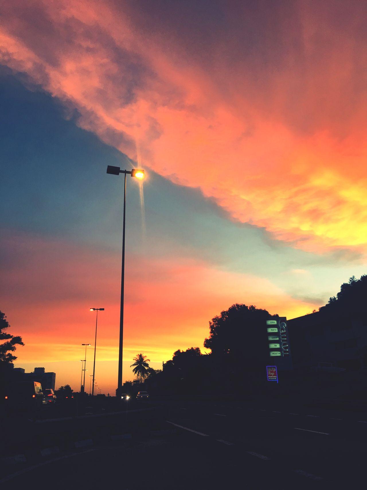 Brunei Darussalam Sunset Sky No People Cloud - Sky Silhouette Outdoors Street Light Brunei IPhoneography Nature EyeEmNewHere EyeEmNewHere