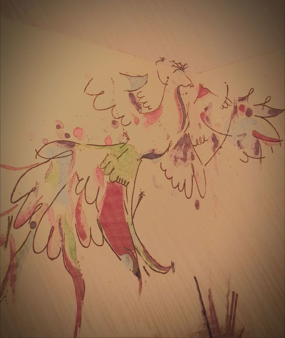 El fenix, mi retrato. PHENIX Acuarela Pinturasmurales Enjoying Life That's Me Home Stamp Painting Colors Acuarelas Idea