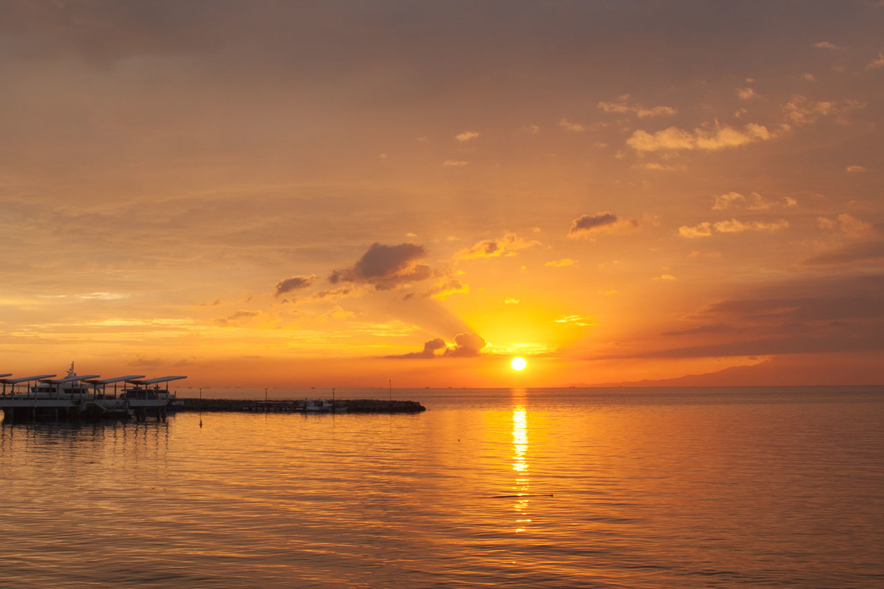Manila Bay Sunset Beauty In Nature Cloud - Sky Horizon Over Water Nature Nautical Vessel No People Orange Color Outdoors Reflection Scenics Sea Sky Sun Sunset Tranquil Scene Tranquility Water Waterfront First Eyeem Photo