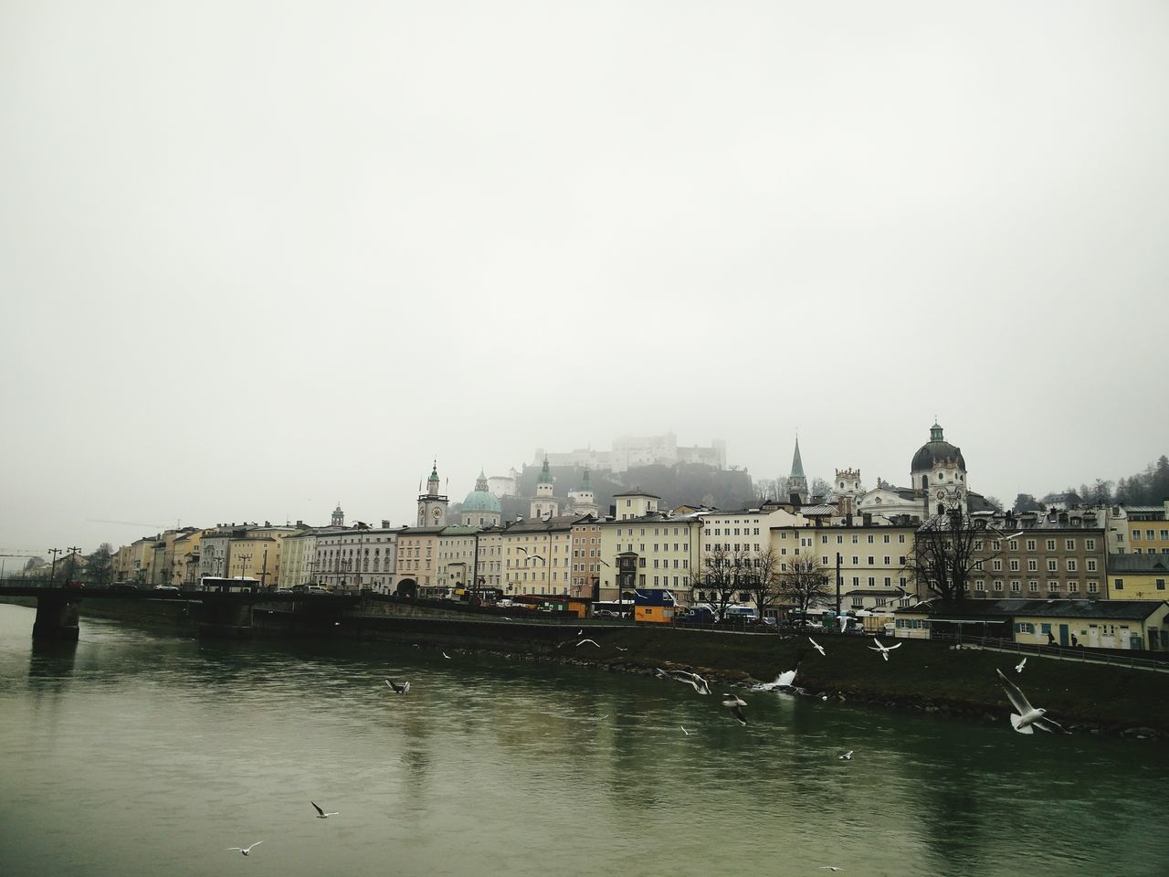Salzburg on a foggy day Walking Around The City  City Salzburg City View  Historic City Oneplus2 AndroidPhotography