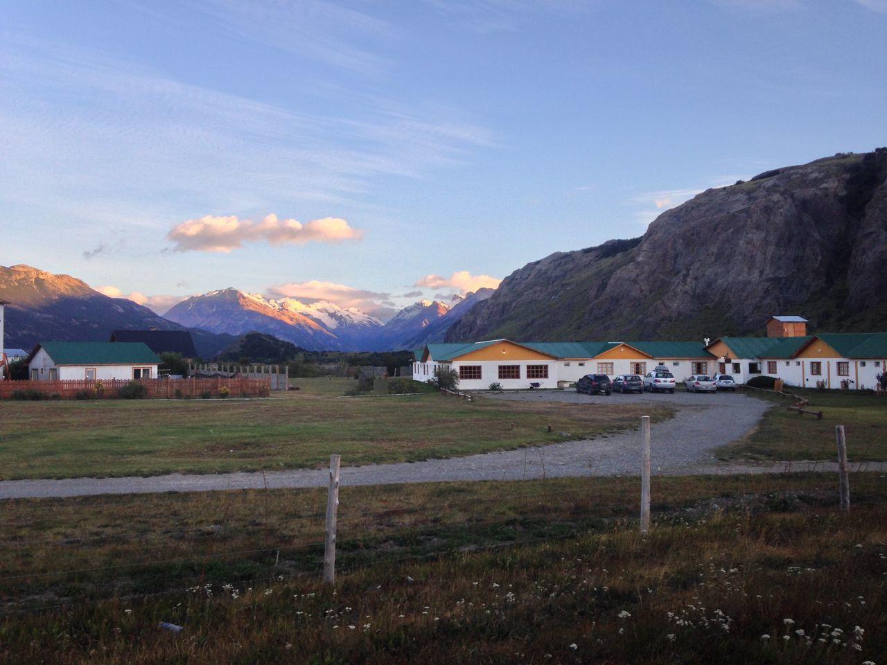 Beautiful alpine scenery with cloudy sky