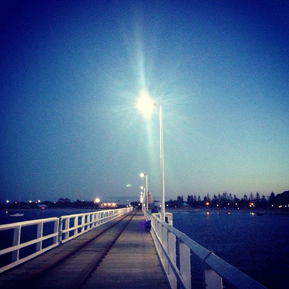 Night jetty Busseltonjetty Jetty Nighttime Lights