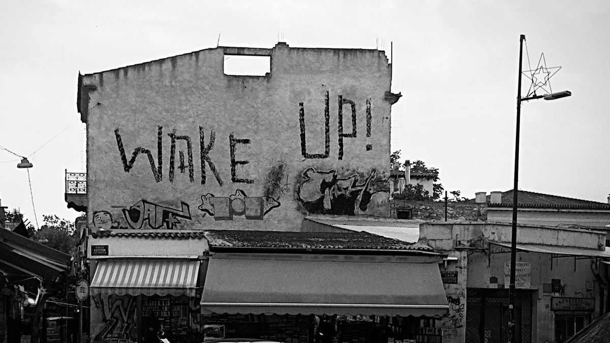✨ Wakeup ✨ Letters In The City Bwn_friday_eyeemchallenge Urbanexploration City Walk City Center Athens Bnw_friday_eyeemchallenge