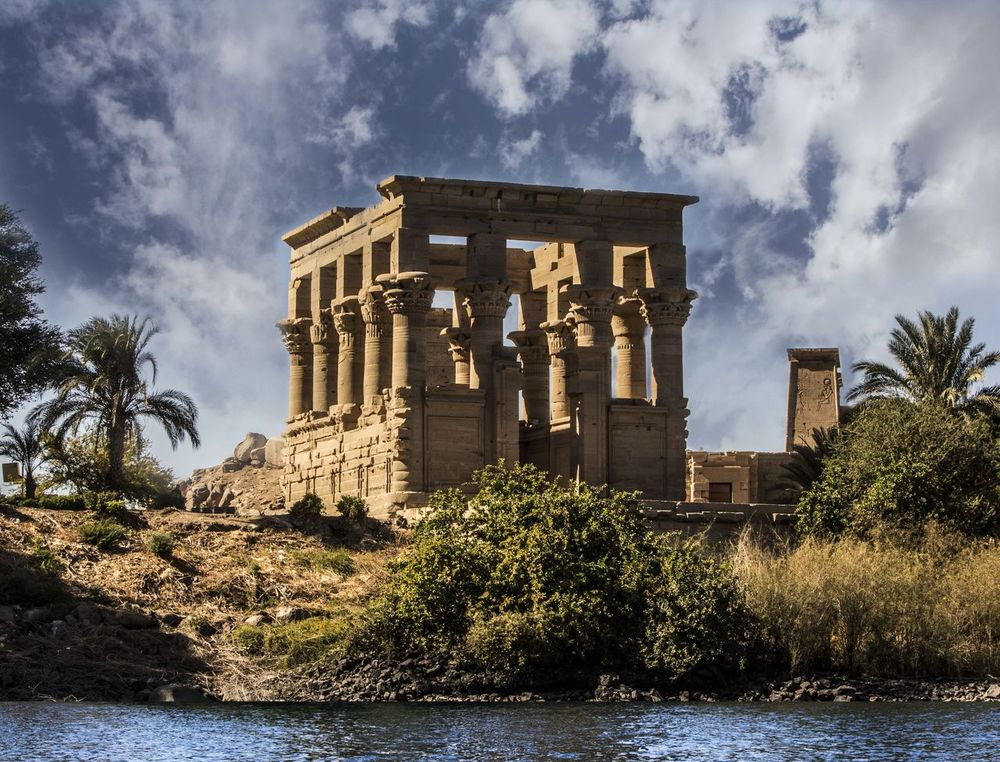 Phelae Temple on Nile River Ancient Ancient Civilization Architecture Building Exterior Built Structure Cloud - Sky Day Egypt Egyptology Egyptomania History Nature No People Old Ruin Outdoors Pharoah Pharoahs Sky Travel Destinations Tree Water