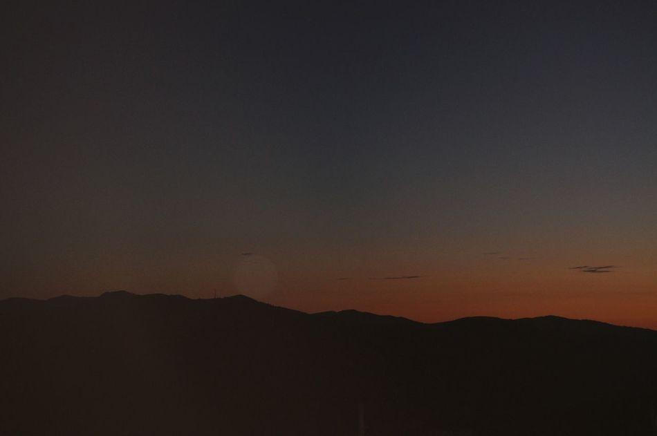 sunset always enchants me Mountain Silhouette Sky Sunset Dusk Sky