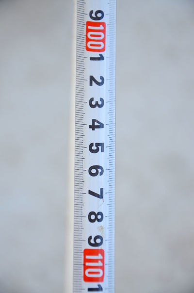 Centimeter Close-up Construction Industry Inch Metal No People Number Tape Measure White