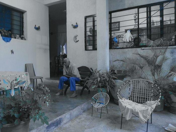 El gran pensador Chair One Person Pensamientos Bluecolor Profundidad Love Grandpa Fantasticpeople by OEVR