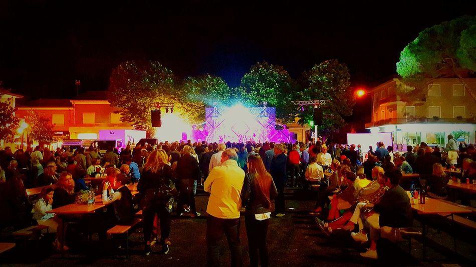 Night Large Group Of People Illuminated Music Festival Event Spagetti Night Italy❤️ Riccione2017 Music Fun