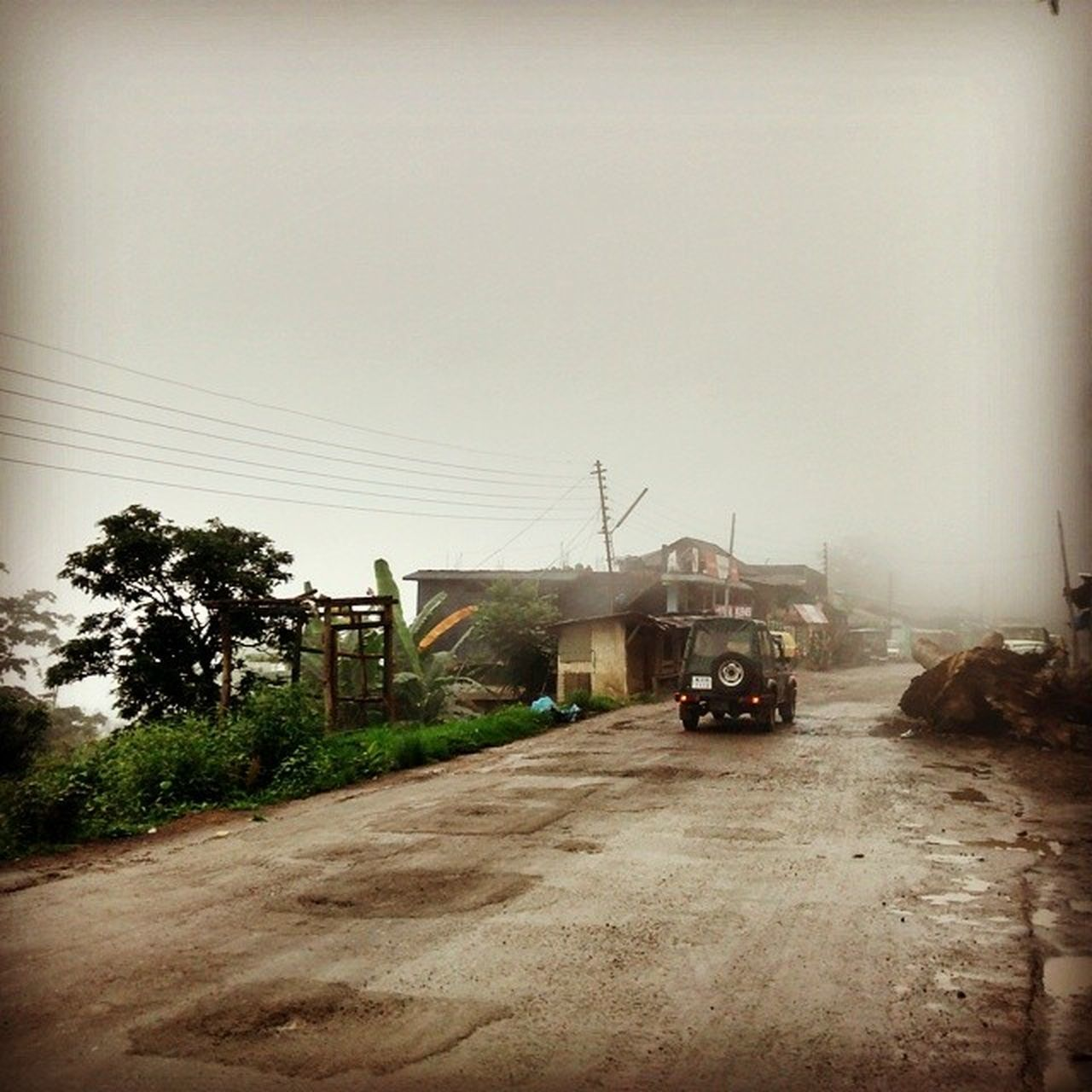 Climbing up the hills to Kohima. Weather's becoming a little more comfortable. Like Bangalore at the moment. IndiaTrail Roadtrip Fog Mist Hills Kohima Dimapur Nagaland Nothumidatall Weather