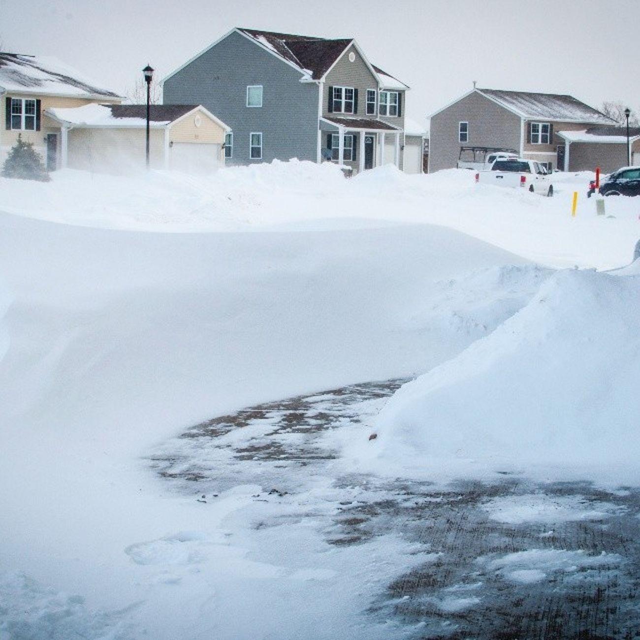 Snowdrift Snowpocalypse Drifting Snow