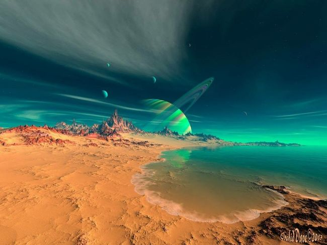 """"""" Beach on Planet Newerades """" created by me using Mojoworld Pro and my vast imagination! Science fiction Check This Out NEM SciFi Hello World Dailyphoto Eye Candy Pure Talent Mojoworld"""
