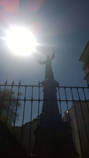 Arequipa - Peru Blue Sky Church Low Angle View No People Religion Statue Sun