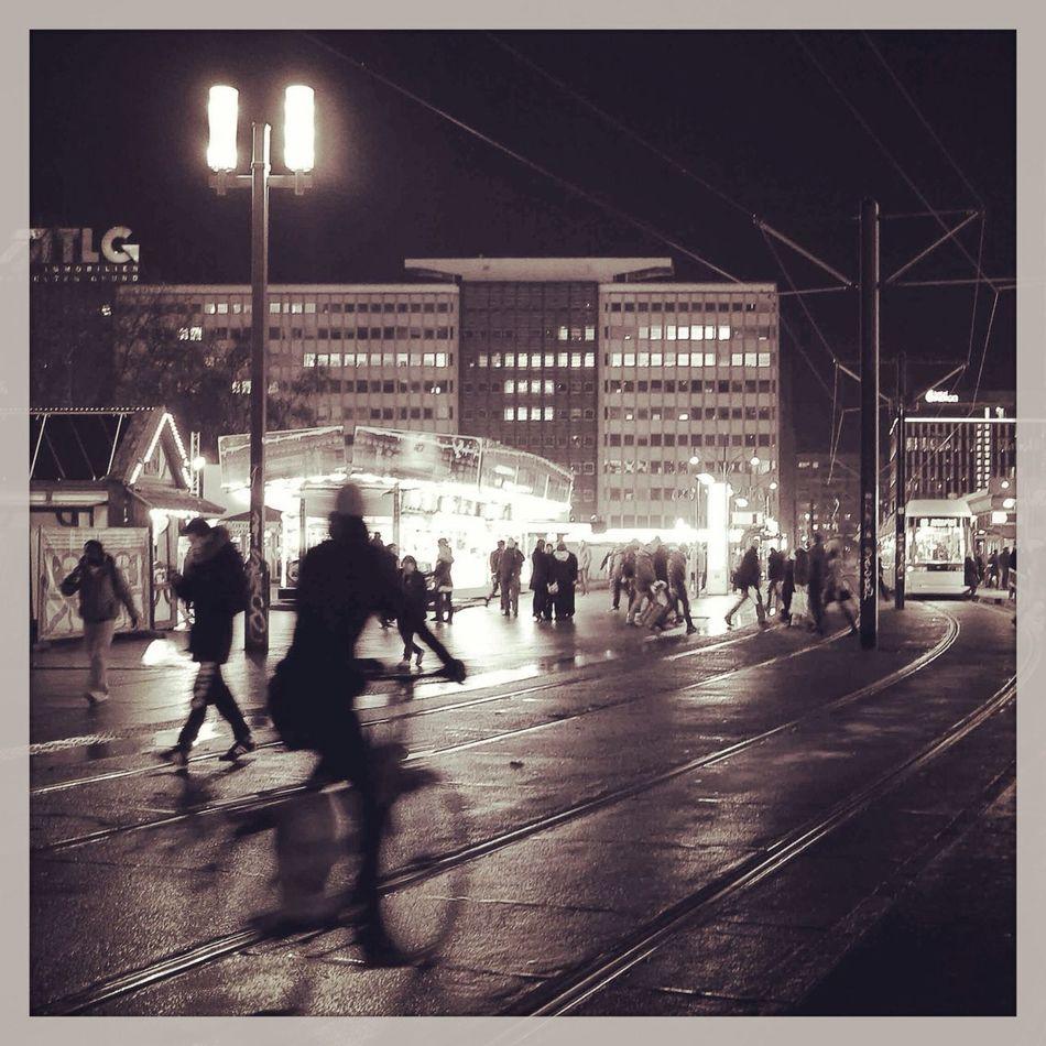 Berlin Blackandwhite Alexanderplatz Life In Motion