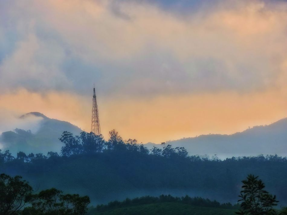Spotted In Munnar Hill Views Mobile Tower Sun Set Taking Photos Nice View Colorful