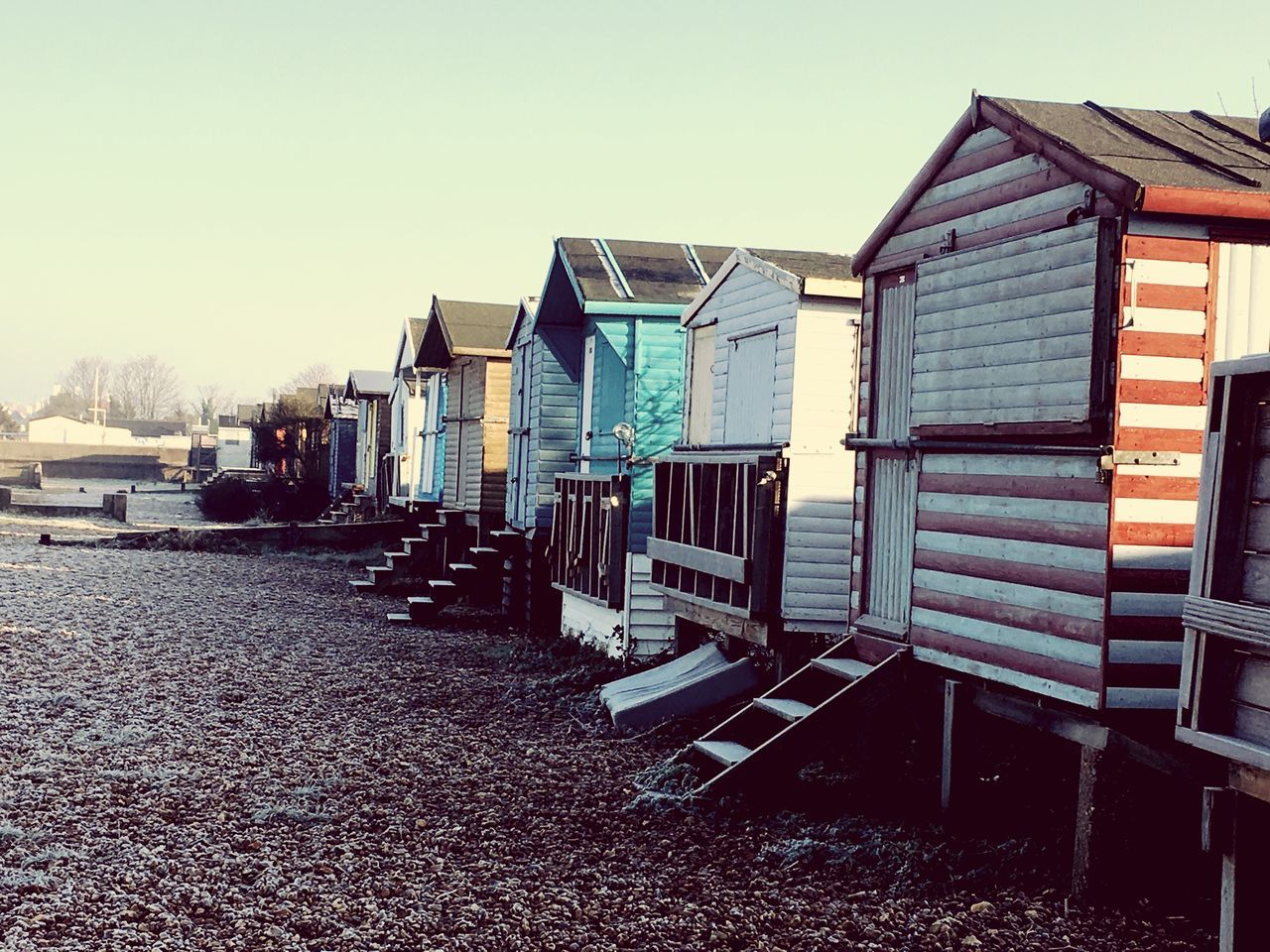 Beach Huts Whitstable Winter Morning