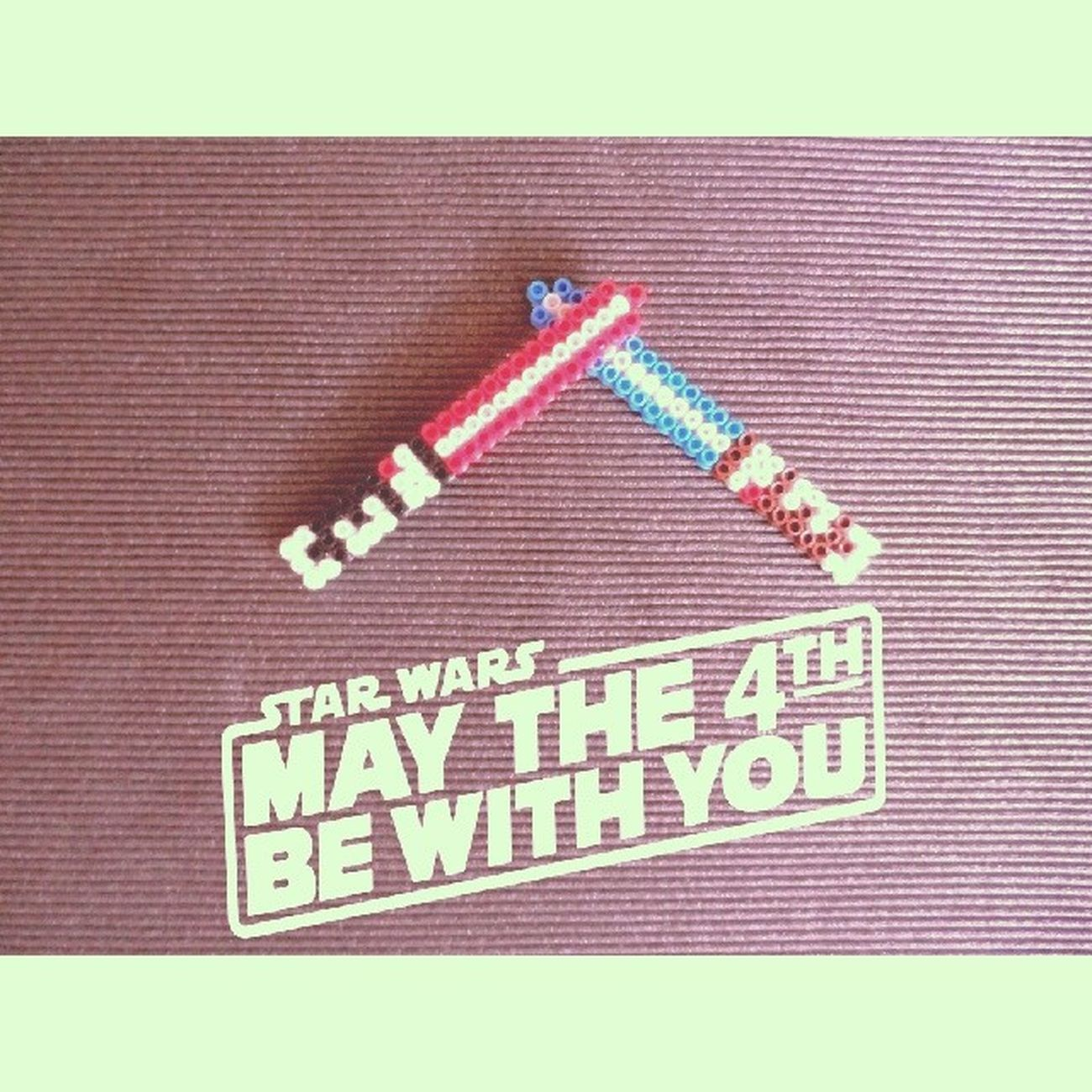 I made Pixel Art light sabers for the Star Wars Day !! May the 4th be with you folks ! Starwars Starwarsday MayTheFourthBeWithYou Jedi Geek Universe Happy Lightsaber Force Design Pixelart Art Pixel Eightbit Hama Today Pictoftheday Project